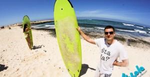 Surfanje na sjevernoj obali Fuerteventure